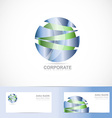 Abstract corporate blue green sphere logo vector image vector image