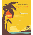 airplane and tropical paradise vector image vector image