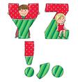 Alphabet kids YZ vector image vector image