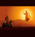 annunciation to shepherds vector image vector image