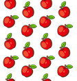 apples seamless pattern on white background vector image