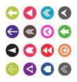 arrow icon set web arrow pictogram design vector image vector image