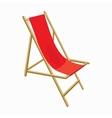 Beach chair icon cartoon style vector image vector image