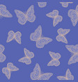 beautiful butterflies chaotically fly randomly vector image
