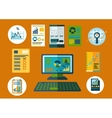 Business and financial planning flat icons vector image vector image
