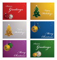 christmas cards vector image vector image