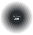 Circle line halftone Banner Noisy circle Vintage vector image vector image