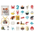 collection of 29 flat icons for seafood vector image vector image