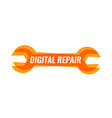 colorful sign for digital equipment repair vector image