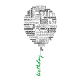 Conceptual birthday words as balloon vector image vector image