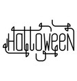 creative lettering for halloween party vector image