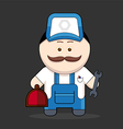 cute handyman-mechanic vector image vector image