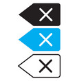 delete backspace key icon on white background vector image vector image
