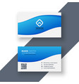 elegant and simple blue business card design vector image vector image