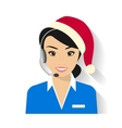 Female call centre operator vector image