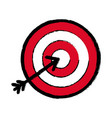 flat icon arrow hitting a target vector image