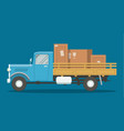 flat loaded truck vector image vector image