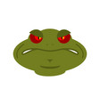 frog angry emoji toad avatar evil amphibious vector image