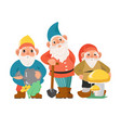 gnome with beard for garden decoration cartoon vector image