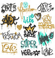 graffiti street art graffity grunge font by vector image