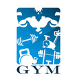 gym and fitness flat design vector image vector image