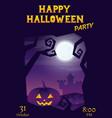 halloween party roughen purple gradient greeting vector image vector image
