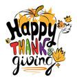 happy thanksgiving logo vector image vector image