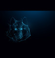 head wolf logo forms lines and particle vector image vector image