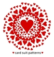 Heart card suit pattern vector image vector image