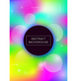 holographic background with liquid shapes dynamic vector image vector image
