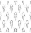 ice cream easy pattern linear-10 vector image