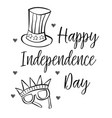 independence day collection style hand draw vector image vector image