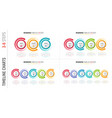 infographic 3-6 steps process charts with circular vector image vector image