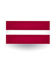 Latvian Flag vector image vector image