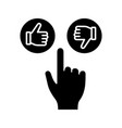 like and dislike buttons click glyph icon vector image vector image