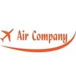 Logo of aircompany vector image vector image