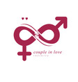 love forever conceptual logo symbol created with vector image