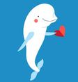 Love with a dolphin with a heart vector image