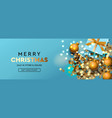 merry christmas and happy new year banner xmas vector image