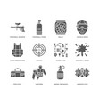paintball game glyph icons outdoor sport vector image