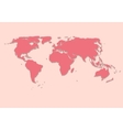 Paper World Map on Pink Background vector image
