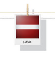 photo of latvia flag vector image vector image
