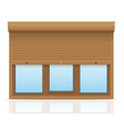 plastic window with rolling shutters 10 vector image vector image
