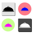 platter flat icon vector image vector image