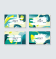 retro design templates for banners flyers and vector image