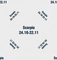 Scorpio sign Seamless pattern with geometric vector image vector image