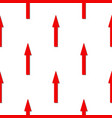 seamless pattern red arrow on white background vector image vector image