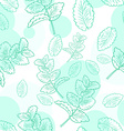 seamless pattern with mint and its leaf vector image