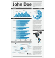 Simple template resume vector image vector image