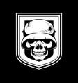 skeleton in a helmet vector image